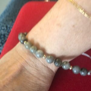 Natural Green. Jasper Beads Into A Braclet